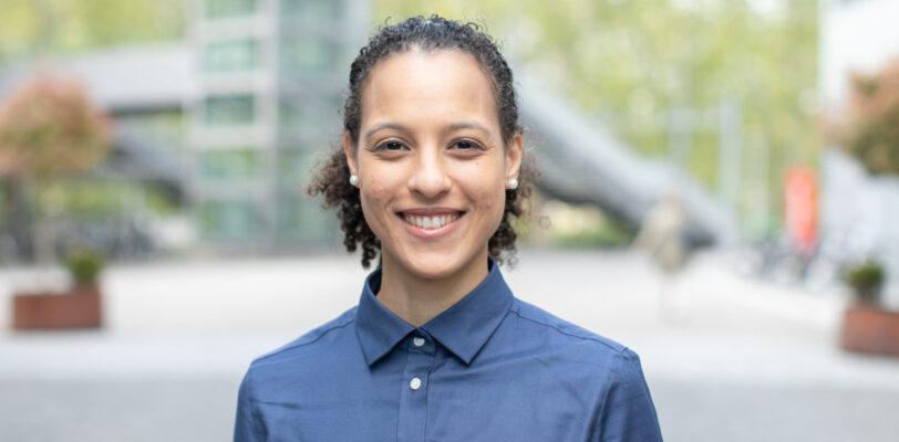 Portrait photo of smiling role model Chanel Greco on We Shape Tech website