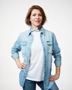 Portrait photo of role model Cristina Riesen on We Shape Tech website