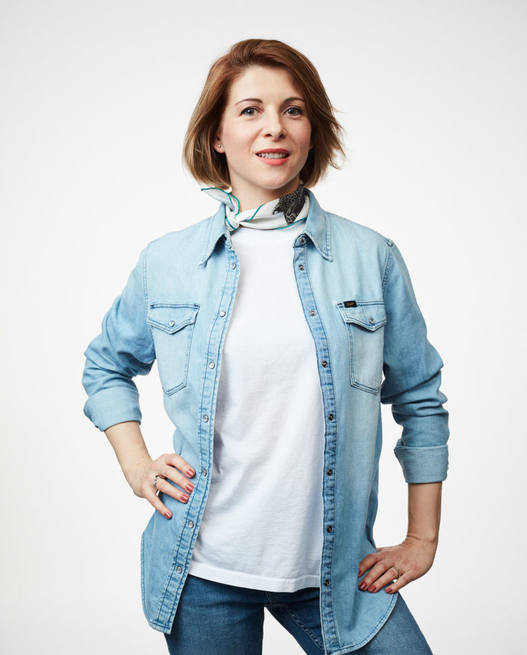 Portrait photo of role model Cristina Riesen on We Shape Tech website