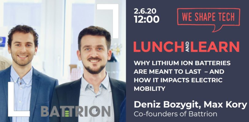 "cover picture of event Lunch & Learn ""How Lithium Ion Batteries Can Transform Our World"" by Deniz Bozygit and Max Kory"