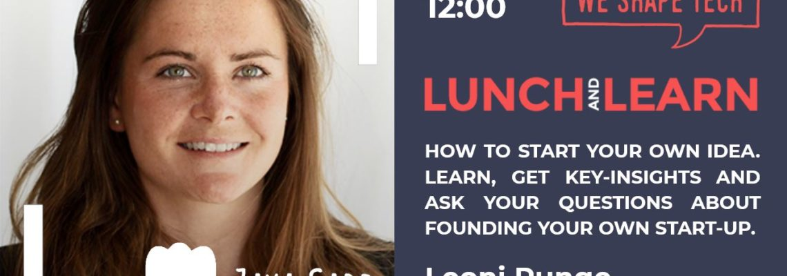 "visual of Lunch & Learn ""How to start your own idea"" by Leonie Runge"