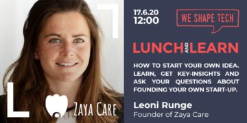 """visual of Lunch & Learn """"How to start your own idea"""" by Leonie Runge"""
